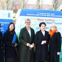 В Люксембургском айыл окмоту Чуйской области состоялась презентация деятельности мобильных ЦОНов.