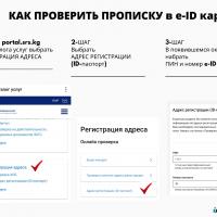 электрондук кызмат порталы аркылуу жаңы биометрикалык ID карталарындагы каттоо дарегин он-лайн текшерүү функциясы ишке киргизилди