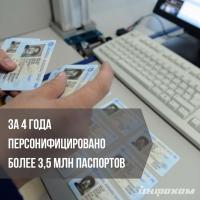 За 4 года изготовлено более 3.5 млн паспортов